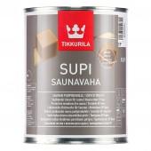 Tikkurila Supi Saunavaha (Тиккурила Супи Саунаваха) 0.9 л - защитный воск, колеруемый