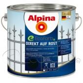 Грунт-эмаль 3 в 1 Alpina Direkt auf Rost 2,5 л чёрная (RAL 9005)