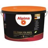 Alpina Суперстойкая Интерьерная - шелковисто-матовая, грязеотталкивающая дисперсионная краска.