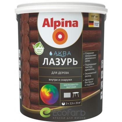 Alpina (Альпина) аква лазурь для дерева - тонкослойная водоразбавляемая лазурь для дерева