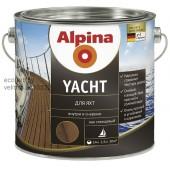 Алкидно-полиуретановый лак для внутренних и наружных работ по дереву Alpina Yachtlack (Яхт Лак)