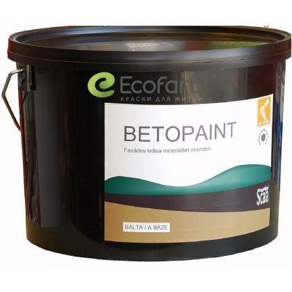 Betopaint - атмосферостойкая фасадная укрывистая краска для наружных минеральных поверхностей.