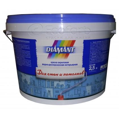 """Диамант (DIAMANT) """"для стен и потолков"""" акриловая краска для интерьера."""