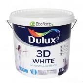 Краска Dulux 3D White Матовая водно-дисперсионная краска для стен и потолков 5 л