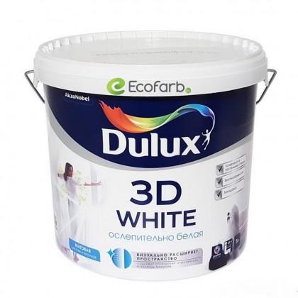 Dulux 3D White Матовая водно-дисперсионная краска для стен и потолков 5 л