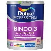 Глубокоматовая водно-дисперсионная краска для стен и потолков Dulux Bindo 3 База BC 4,5 л