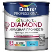 Dulux Diamond Matt Матовая износостойкая краска для стен и потолков BC 2,25 л