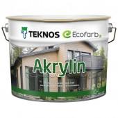 Teknos Akrylin краска фасадная для дерева на водной основе