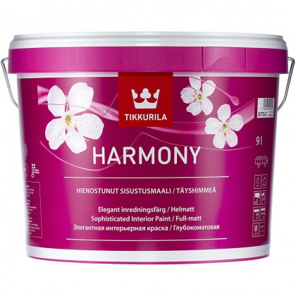 Tikkurila Harmony 9,0 л база A - краска для интерьера