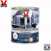 V33 (В33) Climates Extremes 1,0 л База A фасадная краска для дерева