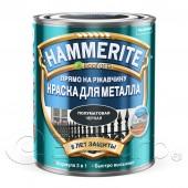 Краска для металла 3 в 1 гладкая полуматовая Hammerite (Хаммерайт) чёрная