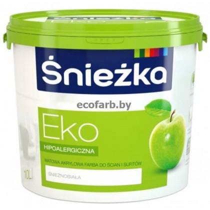 Акриловая краска для стен и потолков Sniezka Eko (Снежка Эко)