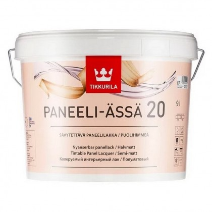 Tikkurila Paneeli-Assa 20 9.0 л - лак полуматовый