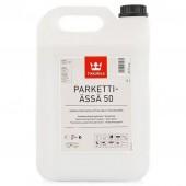 Tikkurila Parketti-Assa 50 (Тиккурила Паркетти-Ясся 50) 5.0 л - лак для пола, полуглянцевый