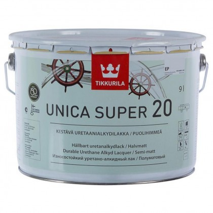 Tikkurila Unica Super 20 полуматовый лак 9,0 л