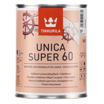 Tikkurila Unica Super 60 полуглянцевый лак 0,9 л