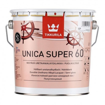 Tikkurila Unica Super 60 полуглянцевый лак 2,7 л