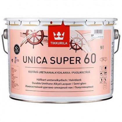 Tikkurila Unica Super 60 полуглянцевый лак 9,0 л