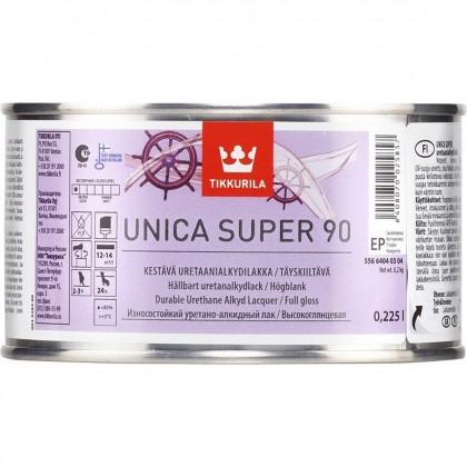 Tikkurila Unica Super 90 глянцевый лак 0,225 л