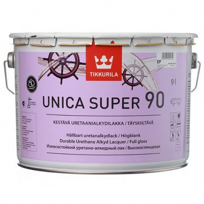 Tikkurila Unica Super 90 глянцевый лак 9,0 л