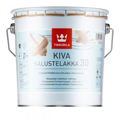 Лак для мебели Tikkurila Kiva (Кива ) 2,7л полумат