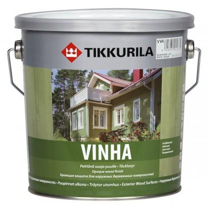 Tikkurila Винха - Vinha база VVA 9л. Полуматовая, водоразбавляемая защита для наружных деревянных поверхностей