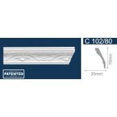 Потолочный плинтус (карниз, багет) инжекционный Solid (Солид) C102/80 200*35*70