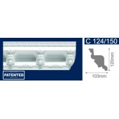 Потолочный плинтус (карниз, багет) инжекционный Solid (Солид) C124/150 200*103*120