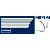 Потолочный плинтус (карниз, багет) инжекционный Solid (Солид) C132/120 200*60*100