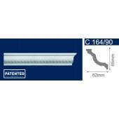 Потолочный плинтус (карниз, багет) инжекционный Solid (Солид) C164/90 200*62*65