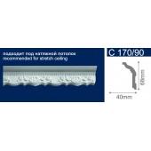 Потолочный плинтус (карниз, багет) инжекционный Solid (Солид) C170/90 200*40*68