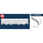 Потолочный плинтус (карниз, багет) инжекционный Solid (Солид) C174/70 200*45*45