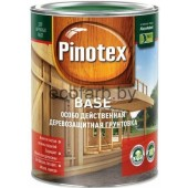 Pinotex Base (Пинотекс База) - бесцветная деревозащитная грунтовка.