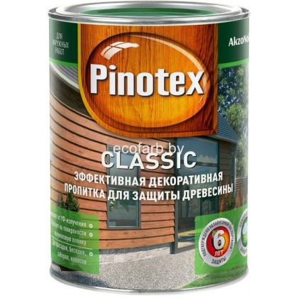 Пинотекс Классик (Pinotex Classic) 1 л.  - эффективная защитно-декоративная пропитка для древесины.