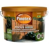 Пинотекс Фокус Аква (Pinotex Focus Aqua) 9,0 л – защитно-декоративная пропитка для древесины