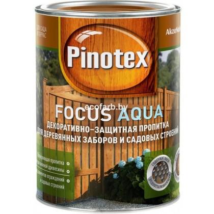 Пинотекс фокус Аква (Pinotex Focus Aqua) - защитно-декоративная пропитка для древесины, деревянных заборов и садовых строений.