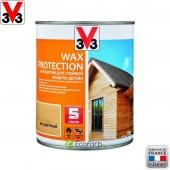 V33 (В33) Антисептик для стойкой защиты древесины Wax Protection 0,9 л Бесцветный