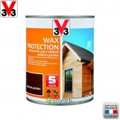 V33 (В33) Антисептик для стойкой защиты древесины Wax Protection 0,9 л Красное дерево
