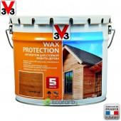 V33 (В33) Антисептик для стойкой защиты древесины Wax Protection 9,0 л Золотой Дуб