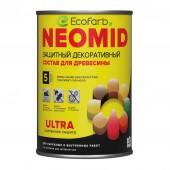 Защитный декоративный состав для древесины NEOMID (Неомид) BiO COLOR Ultra 0,9 л Белый