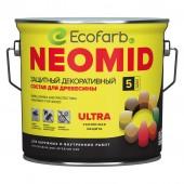 Защитный декоративный состав для древесины NEOMID (Неомид) BiO COLOR Ultra 2,7 л Белый