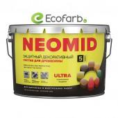 Защитный декоративный состав для древесины NEOMID (Неомид) BiO COLOR Ultra 9,0 л Белый