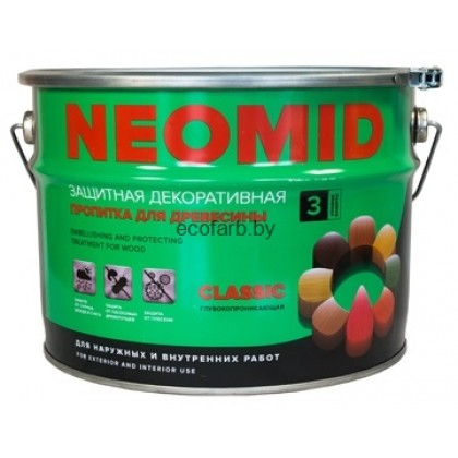NEOMID BIO COLOR CLASSIC (Неомид био колор классик). Защитная декоративная пропитка для древесины